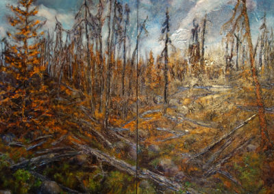 Scorched Earth Diptych - RECENTLY SOLD