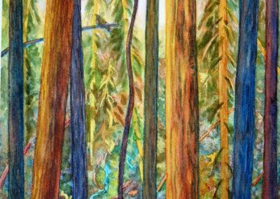 Song of the Forest    Right of Three   Watercolour