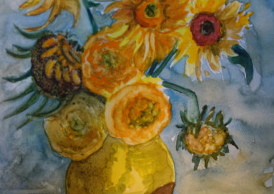 Van Gogh Inspired Sunflowers